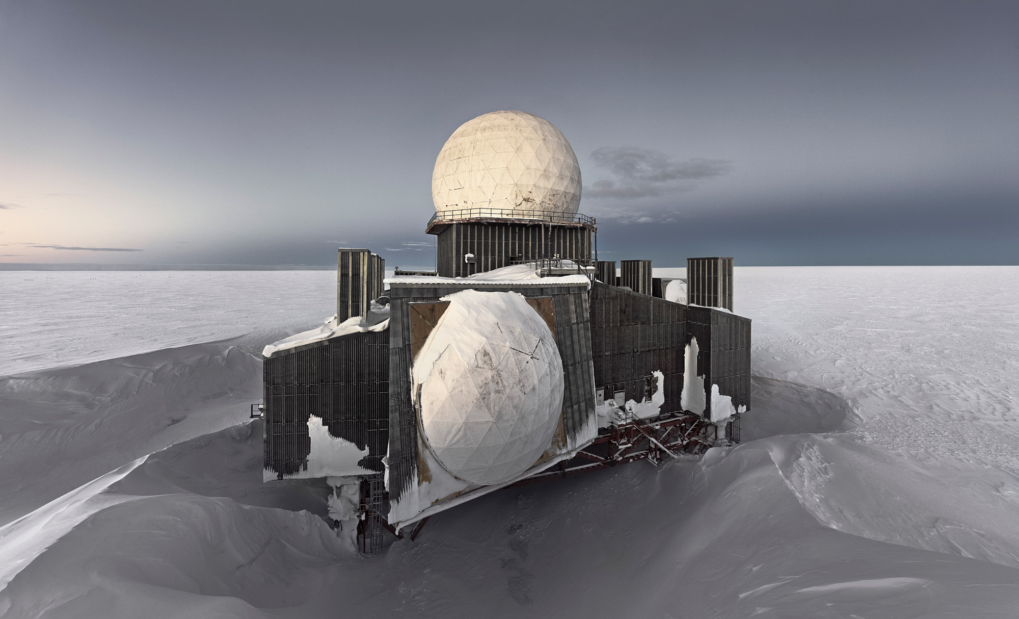 DYE2 #1, Abandoned Missile Detection Station, Greenland Icesheet. 100cm x 165cm, Digital Pigment Print. Edition of 7. 2013