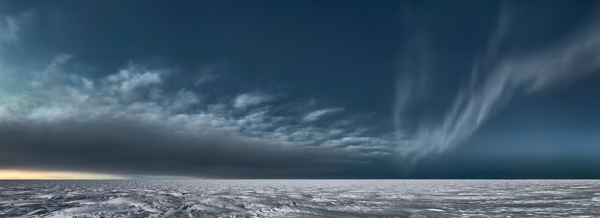 Icesheet #3373 cloud bank & aurora, 95cm x 261cm, Digital Pigment Print, Edition of 7, 2013